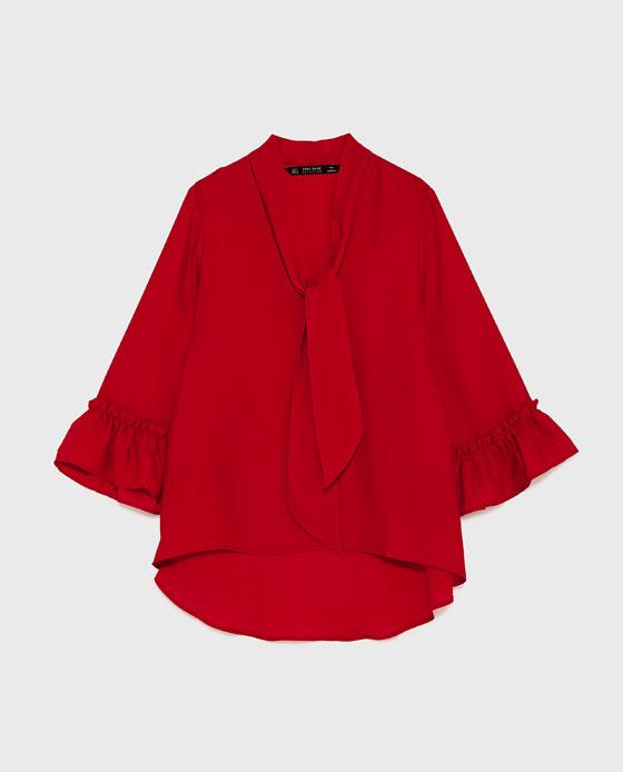 chemise rouge Zara