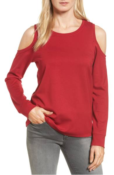 cold shoulder swatshirt nordstrom