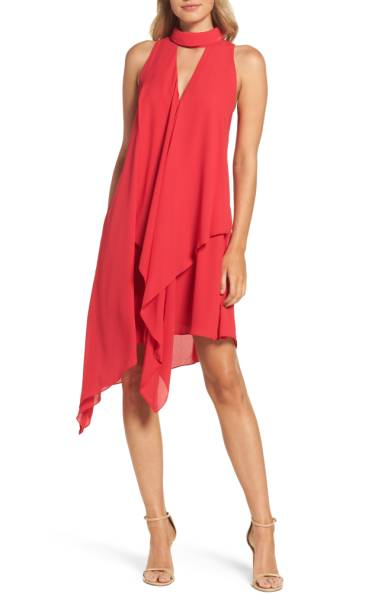 red dress asymmetric nordstrom