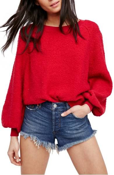 red sweatshirt nordstrom