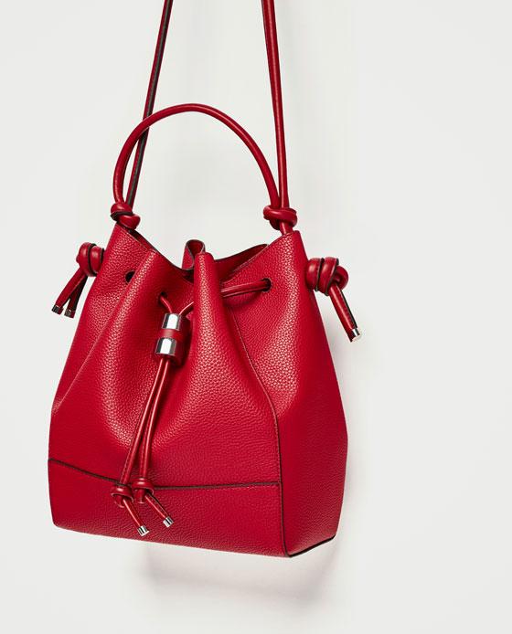 sac rouge zara