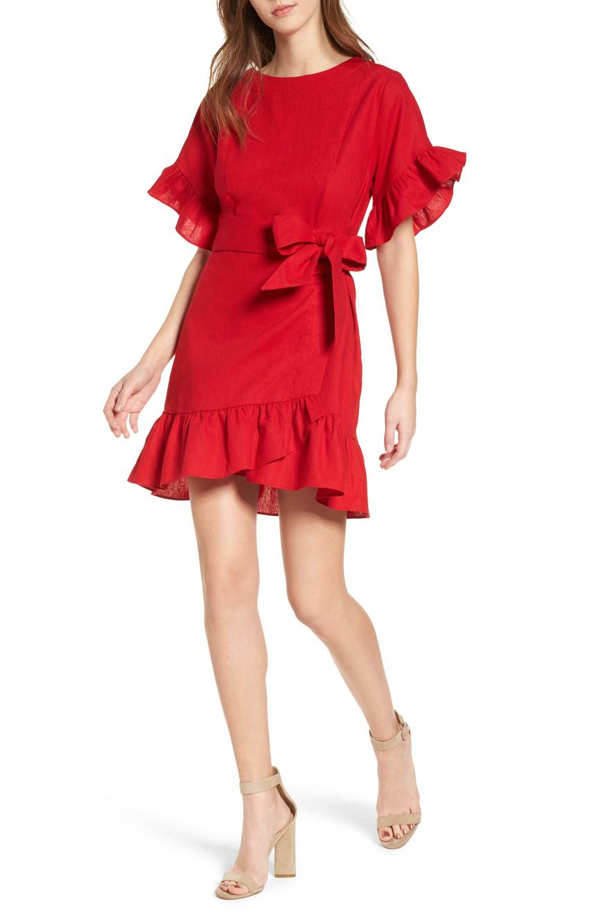 robe volants Nordstrom
